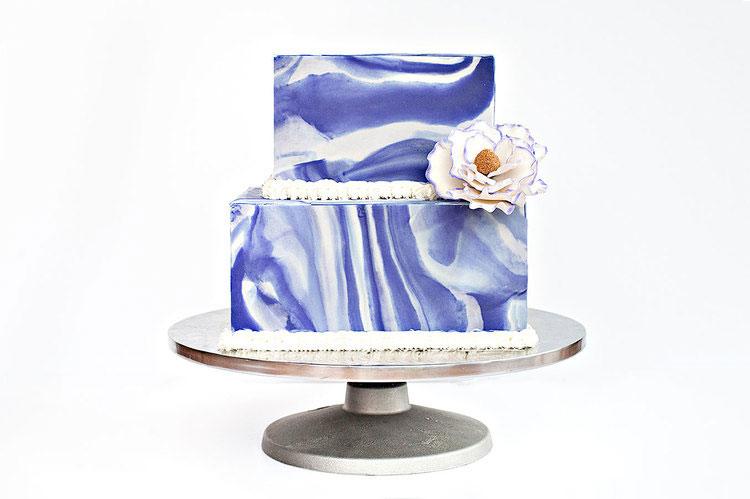 PURPLE MARBLE CAKE