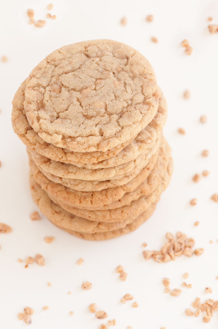 Toffee Crunch Cookies | Sprinkles for Breakfast
