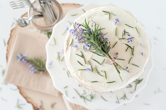 ROSEMARY LAVENDER CAKE