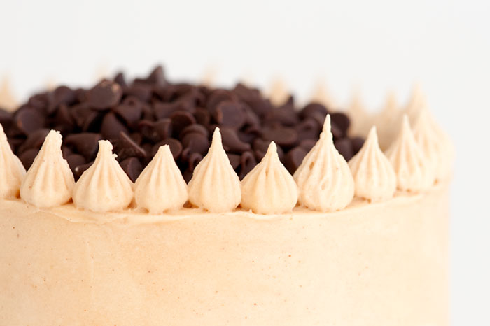 Banana Chocolate Chip Cake with Peanut Butter Frosting | Sprinkles for Breakfast