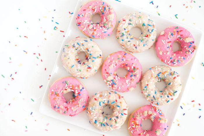 Birthday Cake Doughnuts   Sprinkles for Breakfast