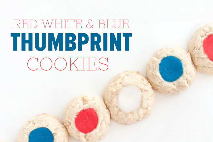 Red White & Blue Thumbprint Cookies | Sprinkles for Breakfast