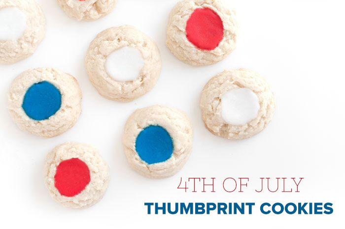 Red White & Blue Thumbprint Cookies | Sprinkles for Breakfast