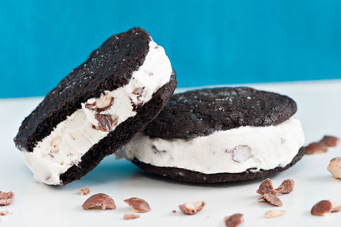 MALTED MILK BALL ICE CREAM SANDWICHES