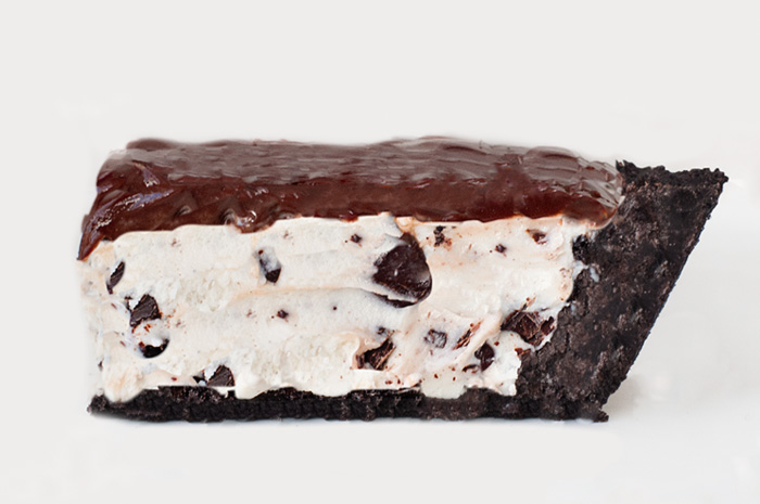Chocolate chip ice cream pie