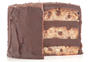 Chocolate chocolate chip banana cake