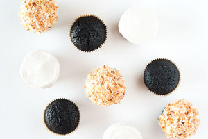 Chocolate toasted Coconut cupcakes