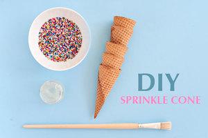 DIY sprinkle cone
