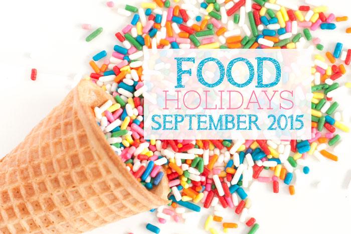 Food Holidays September 2015