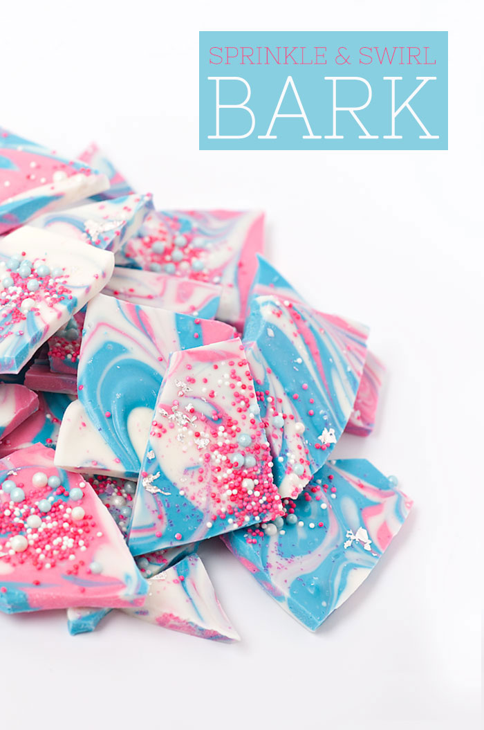 Sprinkle and Swirl Bark | Sprinkles for Breakfast