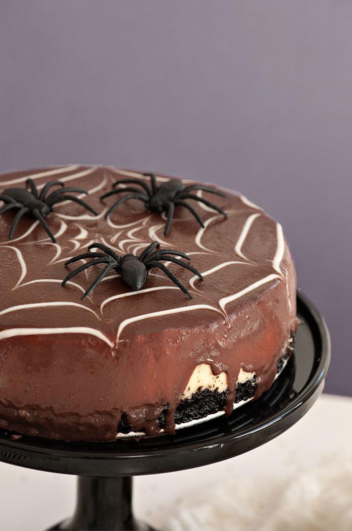 Spiderweb Cheesecake | Sprinkles for Breakfast