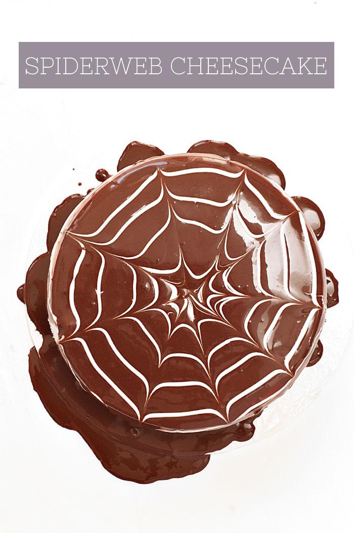 Halloween Spiderweb Cheesecake | Sprinkles for Breakfast