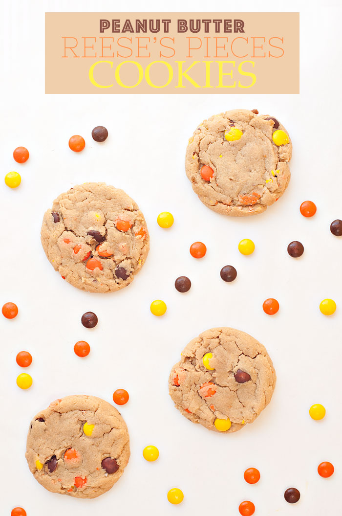 Peanut Butter Reese's Pieces Cookies | Sprinkles for Breakfast