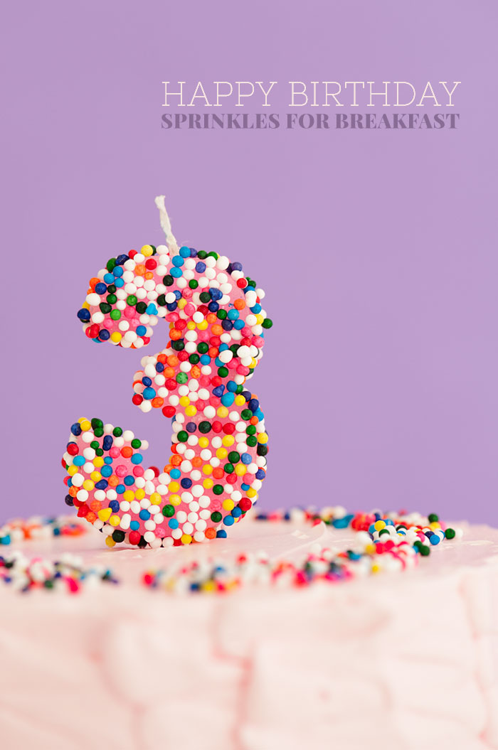Happy Birthday Sprinkles for Breakfast
