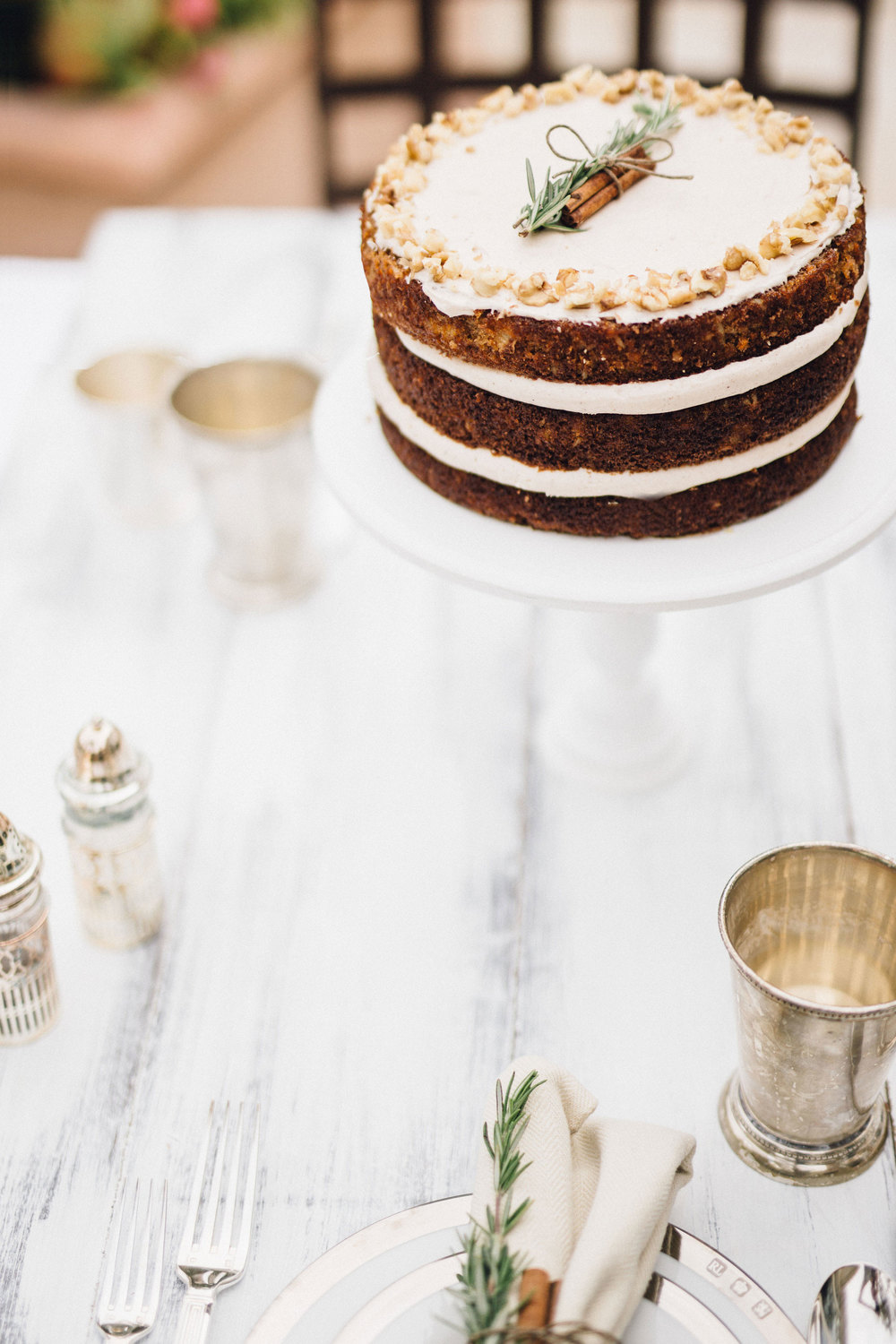 Carrot Cake with Spiced Honey Frosting | Sprinkles for Breakfast