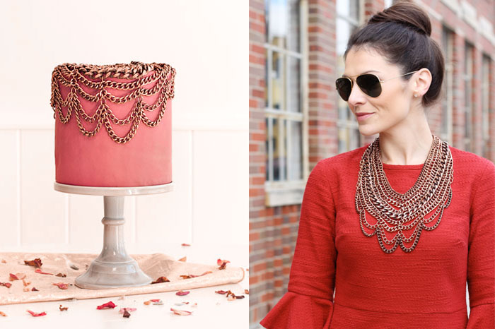 Statement Necklace Cake | Sprinkles for Breakfast