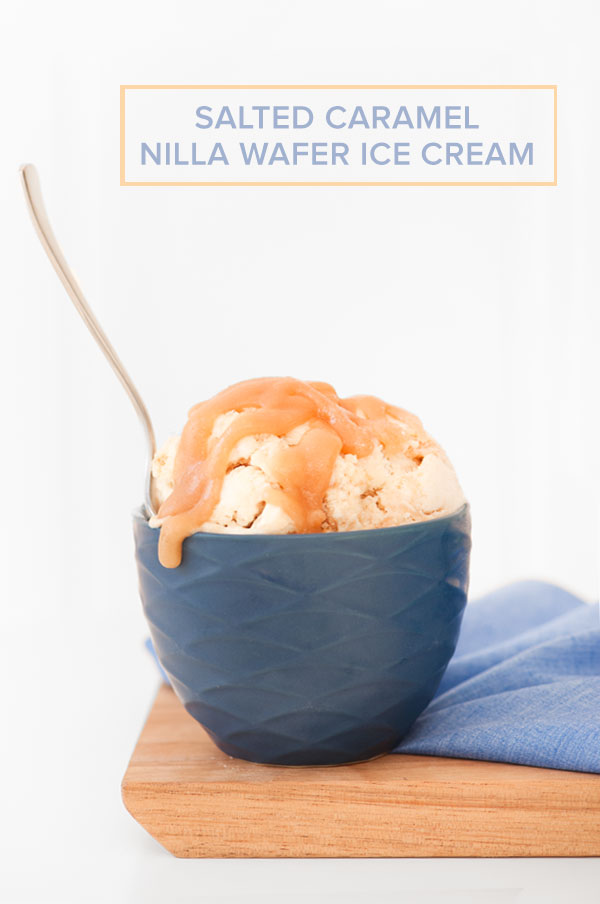 No Churn Salted Caramel Nilla Wafer Ice Cream | Sprinkles for Breakfast
