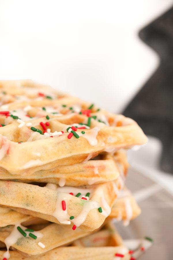 Holiday Waffles | Sprinkles for Breakfast