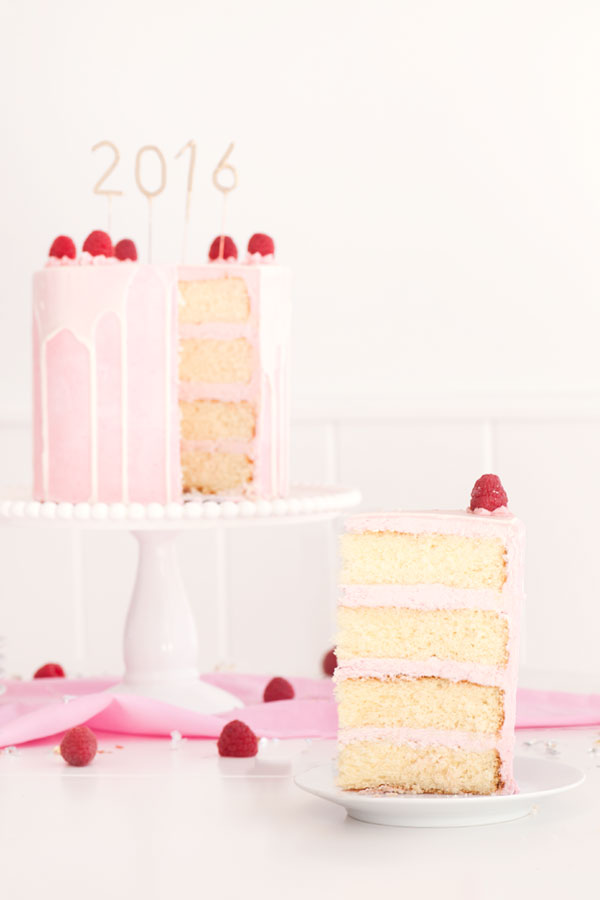 White Chocolate Raspberry Champagne Cake | Sprinkles for Breakfast