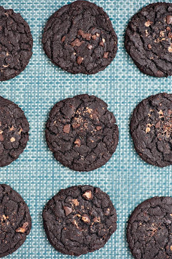Dark Chocolate Malted Milk Ball Cookies | Sprinkles for Breakfast