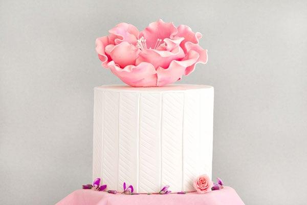 Simple White Panel CAke