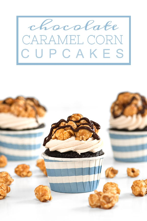 Chocolate Caramel Corn Cupcakes | Sprinkles for Breakfast