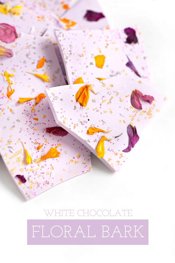 White Chocolate Floral Bark   Sprinkles for Breakfast