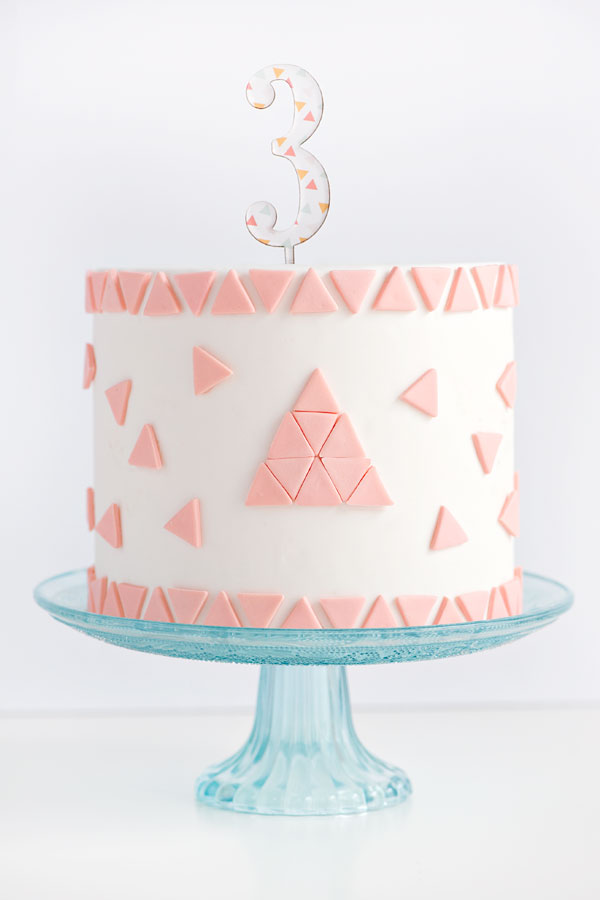 Triangle Pattern Cake | Sprinkles for Breakfast