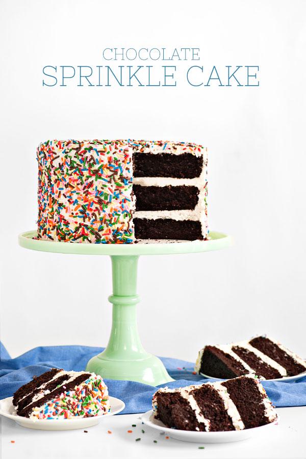 Chocolate Sprinkle Cake | Sprinkles for Breakfast