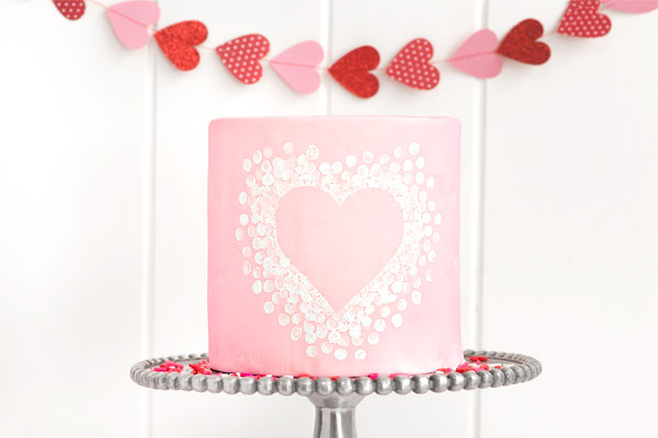 Heart Stamp Cake