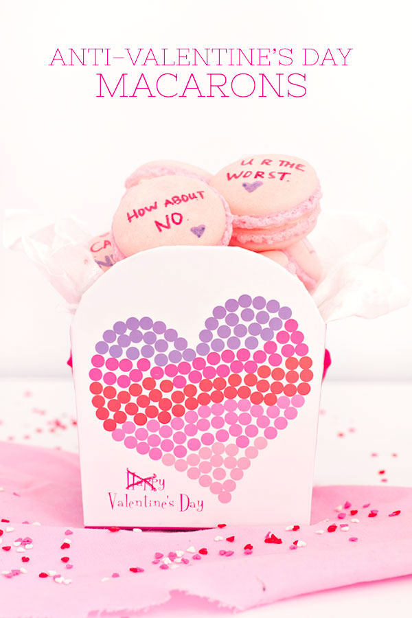 Anti-Valentine's Day Macarons | Sprinkles for Breakfast