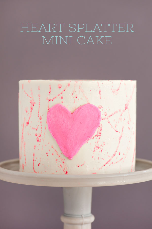 Heart Splatter Mini Cake | Sprinkles for Breakfast