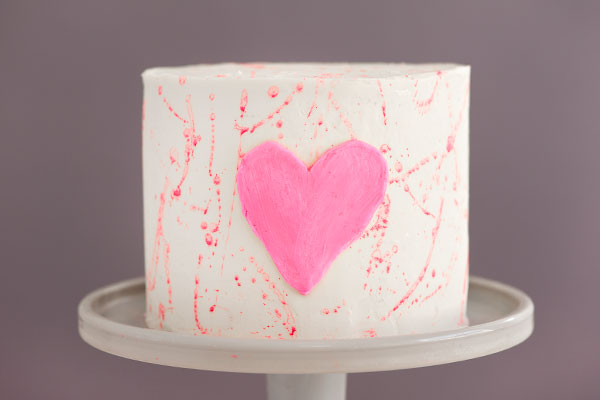 Heart Splatter Cake