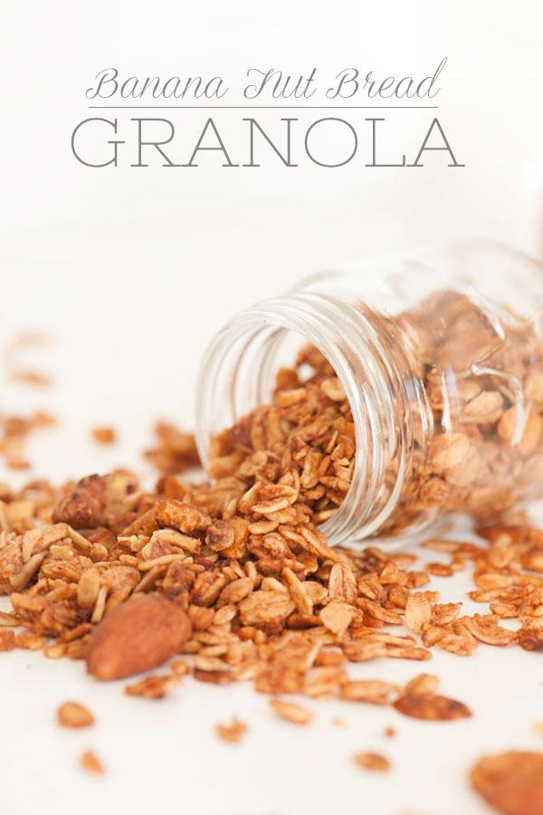 Banana Nut Bread Granola | Sprinkles for Breakfast