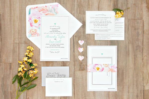Suite Paperie Wedding Invitation