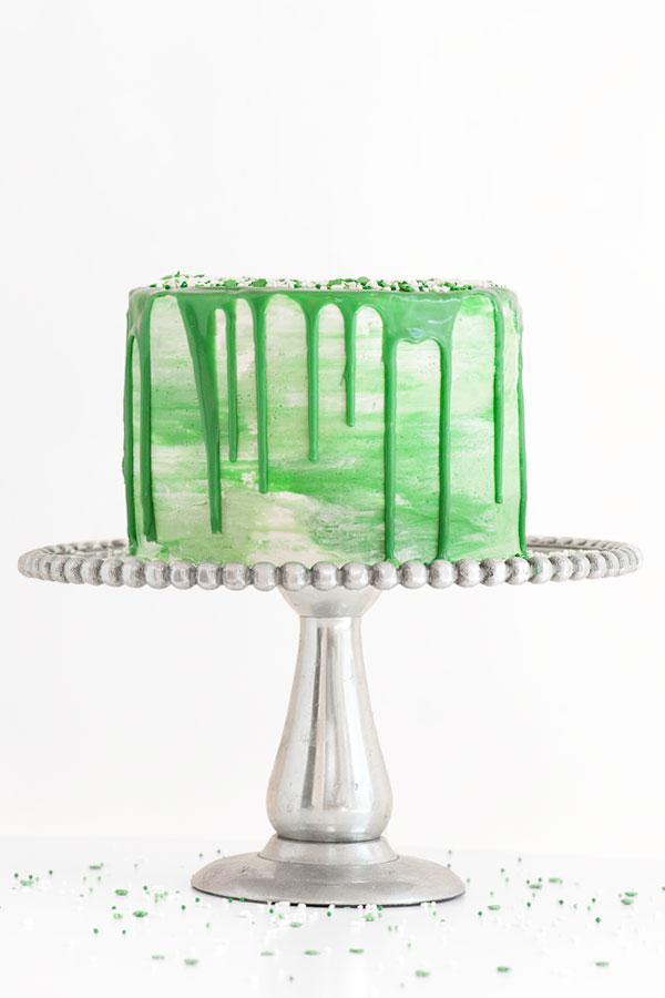 DIY St. Patrick's Day Watercolor Cake | Sprinkles for Breakfast