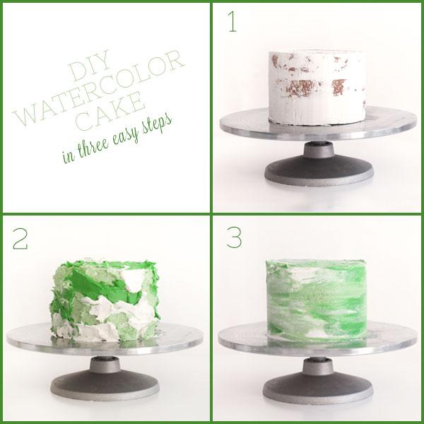 DIY Watercolor Cake | Sprinkles for Breakfast