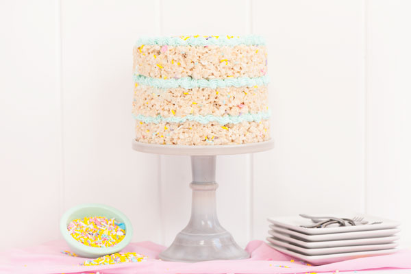 Rice Krispy Treat Cake