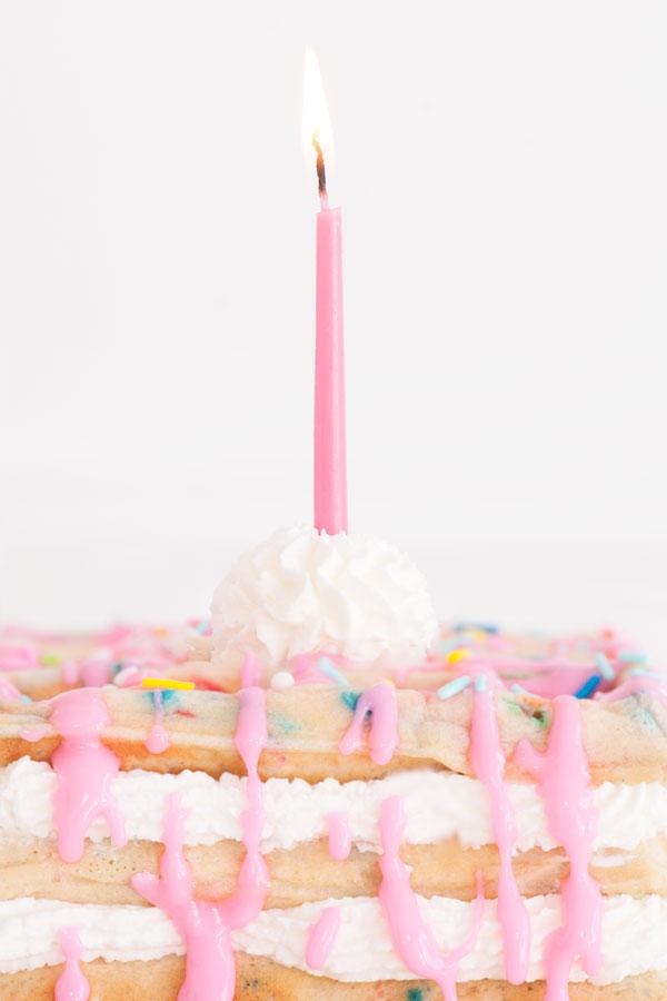 Confetti Waffle Birthday Cake | Sprinkles for Breakfast