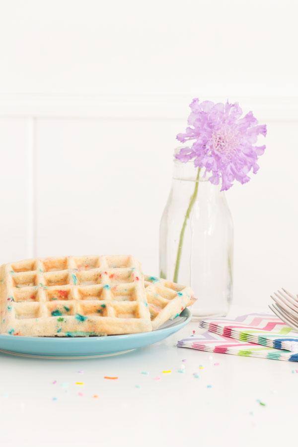 Confetti Waffles | Sprinkles for Breakfast