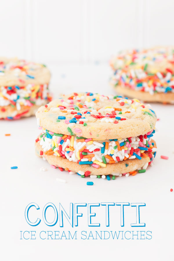 Confetti Ice Cream Sandwiches | Sprinkles for Breakfast