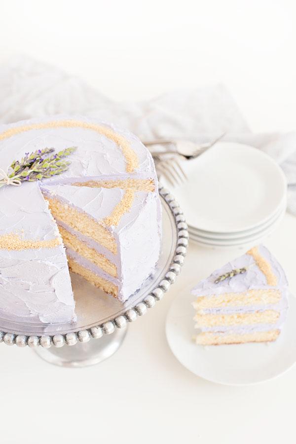 Honey Lavender Cake with Nektar Honey Crytstals | Sprinkles for Breakfast