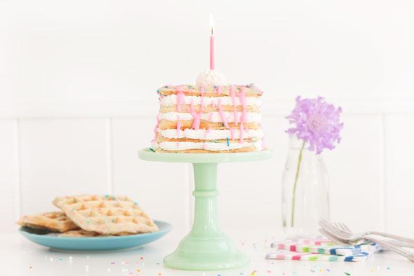 Confetti Waffle Birthday Cake