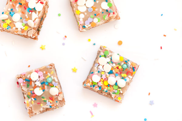 White Chocolate Confetti Blondies