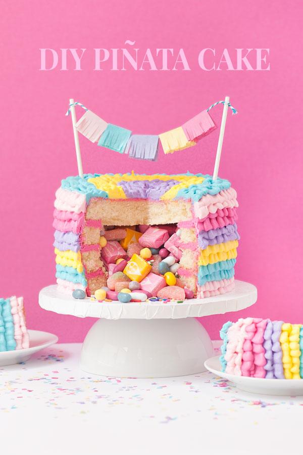 DIY Piñata Cake   Sprinkles for Breakfast