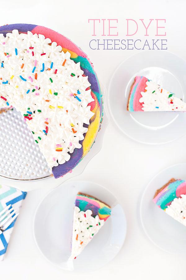 Tie Dye Cheesecake   Sprinkles for Breakfast