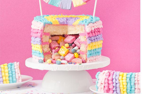 DIY Piñata Cake