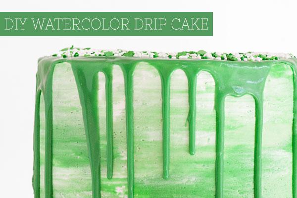DIY Watercolor Drip Cake