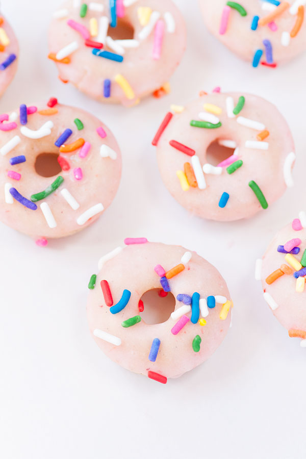 Strawberry Buttermilk Doughnuts | Sprinkles for Breakfast