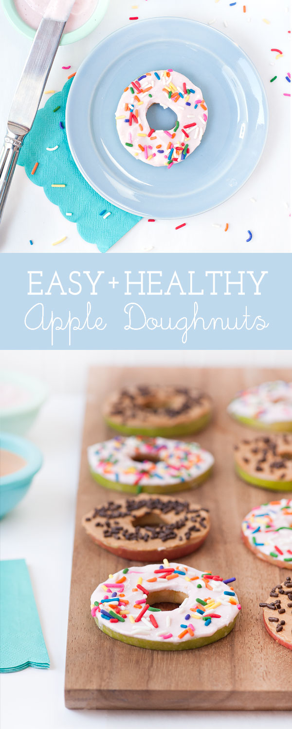 Easy Apple Doughnuts that are perfect for a healthy snack! | Sprinkles for Breakfast